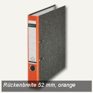 LEITZ Standard-Ordner 180°, schmal/Rücken 52mm, Wolkenmarmor/orange, 1050-50-45
