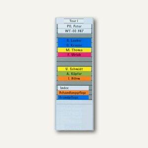 T- Kartentafel magnetisch, breit, 114 x 415 mm, 15 Schlitze, anthrazit, 528109