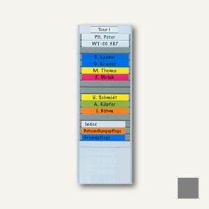 Ultradex T- Kartentafel, flexibel, Schmalformat, 51 Schlitze, anthrazit, 529409