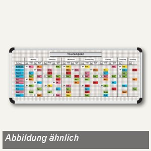Magnettafelset,Pflegebereich,Tourenplan, 1120 x 900 mm, 40 Patienten, 800016