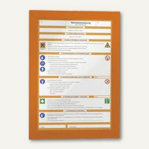 Durable Magnetrahmen DURAFRAME, DIN A4, selbstklebend, orange, 2 Stück, 4872-09