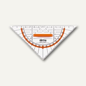 Rotring Geo-Dreieck, 16 cm, mit abnehmbarem Griff, S0903940