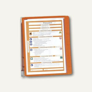 Durable Wand-Sichttafelsystem VARIO WALL 5, DIN A4, orange, 5551-09