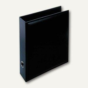 Läufer Monza Ordner aus Lederfaserstoff, DIN A4, schwarz, 34336