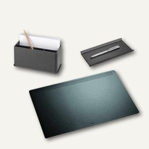 """Läufer """"Matton"""" Schreibtischgarnitur aus Kunststoff, 3-teilig, schwarz, 36017"""