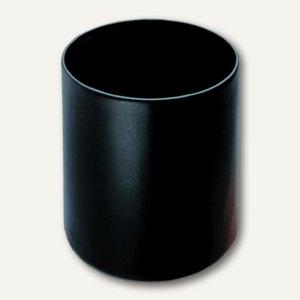 "Läufer ""Scala"" Papierkorb aus Rindsleder, Höhe 30 cm, 26 cm Ø, schwarz, 36436"
