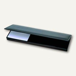 """Läufer """"Scala"""" Set mit Deckel aus Rindsleder, 44x13.5 cm, schwarz, 39226"""