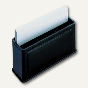 "Läufer ""Modena"" Combi Box aus glattem Rindsleder, 15 x 7.5 x 5 cm, schwarz,36346"