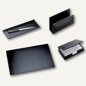 Modena Schreibtischgarnitur aus glattem Leder