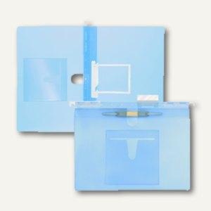 FolderSys Hängehefter, CD-Tasche innen, 2 Heftungen, PP blau, 20 St., 7004644