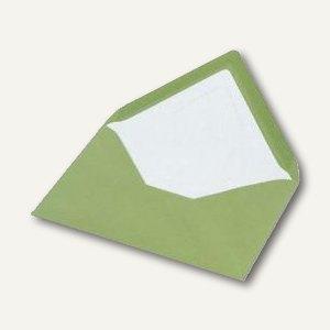 Briefhüllen mit Seidenfutter C6, nasskl., olive gerippt, 100 St., 16400569