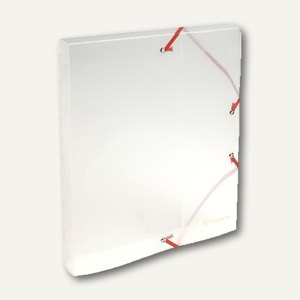 Exacompta Sammelbox Kristall DIN A4, Füllhöhe 25 mm, transparent, 5962E