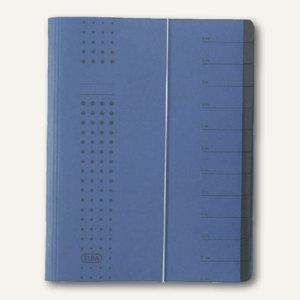Elba chic-Ordnungsmappe, DIN A4, 12 Fächer, Karton 450 g/qm, d.blau, 400001992