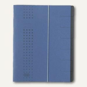 Elba chic-Ordnungsmappe, DIN A4, 7 Fächer, Karton 450 g/qm,d.blau, 400002023