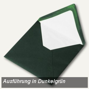 Briefumschlag mit Seidenfutter 164x164mm, nasskl., pinie gerippt, 100 Stück, 164
