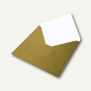 Rössler Briefumschlag 164x164mm, nasskl., gold, 100 Stück, 16404075