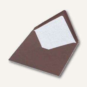Briefumschlag mit Seidenfutter 164x164mm, nasskl., chocolate gerippt, 100 Stück,