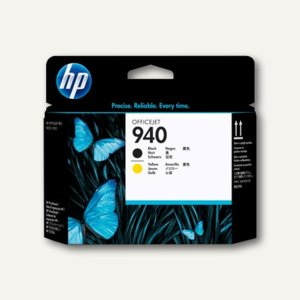 HP Druckkopf Nr.940, schwarz /gelb, C4900A