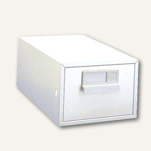 Bisley Karteikasten 1-bahnig ohne Schloss, DIN A5, Stahl, reinweiß, A5HS-625
