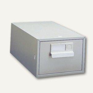 Bisley Karteikasten 1-bahnig ohne Schloss, DIN A5, Stahl, lichtgrau, A5HS-645