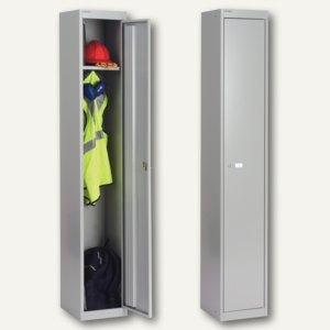 Bisley Garderobenschrank, 1 Fach m. Stange, 1802x305x305 mm, silber, CLK121-355