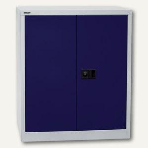 Bisley Universal Flügeltürenschrank, 1 Boden lackiert, grau/blau, E402A01505
