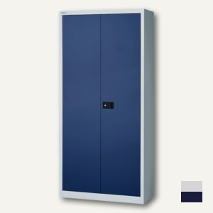Bisley Universal Flügeltürenschrank, 3 Böden lackiert, grau/blau, E722A03505