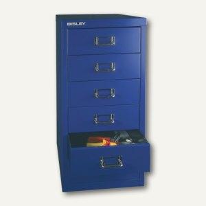 Bisley Basis Schubladenschrank DIN A4, 6 Schübe à 87 mm, oxfordblau, L296-639