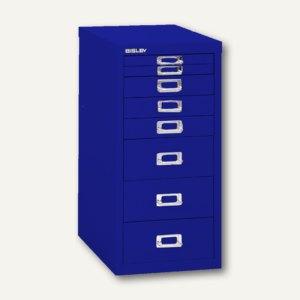 Bisley Schubladenschrank DIN A4, 8 versch. Schubgrößen, oxfordblau, L298-639