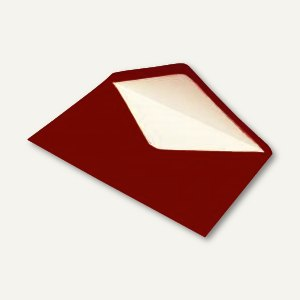 Briefumschlag DIN C5, Seidenfutter, nassklebend, rosso gerippt, 100 Stück, 16401