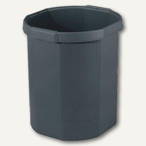 Multiform Papierkorb OCTO ECOblack, 18 Liter, schwarz, 435014D