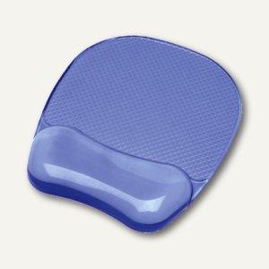Fellowes Mousepad Crystal Gel mit Handgelenkauflage, blau, 91141