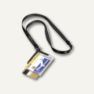 Doppelausweishalter CARD HOLDER DE LUXE DUO 54x85mm & Textilband, 820858, 8208-5