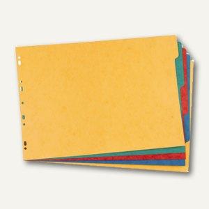 Elba Karton-Register, blanko, DIN A3 quer, farbig, 5-teilig, 400024911