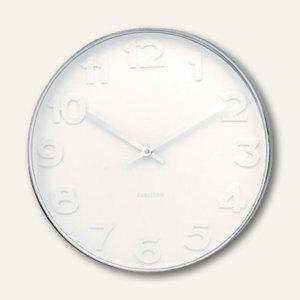"KARLSSON Wanduhr ""Mr.White Numbers"", Ø 37.5 cm, Stahl poliert, KA4383"