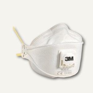 """3M Atemschutzmaske """"Komfort"""" mit Ventil, P1, gelb, 10 Stück, 9312-PT"""