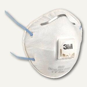 """3M Atemschutzmasken """"Klassik"""" mit Ventil, P2, blau, 10 Stück, 8822-PT"""