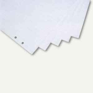 Flipchartpapier, kariert/blanko, 680x960 mm gerollt, 5 Blocks á 20 Blatt, 122730