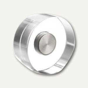 Magnetoplan Neodym-Magnete Design, Ø30 mm, 3 kg, Acryl, transp., 4St., 1680030
