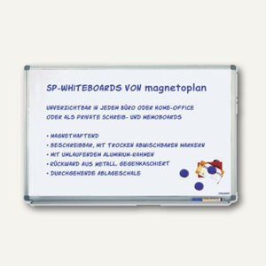 Whiteboard Typ SP, spezial lackiert, 3.000 X 1.200 mm, Wandmontage, 1241188
