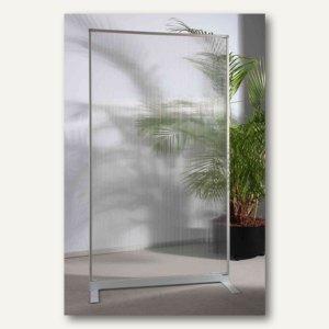 Raumteiler/Trennwand mit Acryl-Oberfläche, 180 x 100 x 50 cm, halbtransparent
