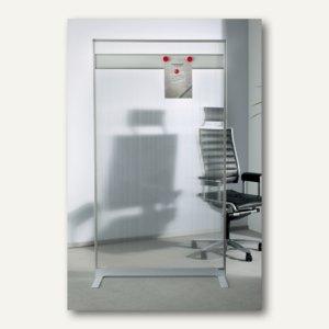 Raumteiler/Trennwand mit Acryl-Oberfläche u. Magnetleiste