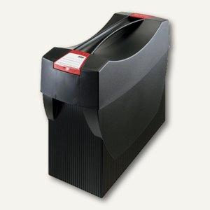 Hängemappenbox Swing-Plus DIN A4, PS, für 20 Mappen/3 Ordner, Deckel, schwarz, 1