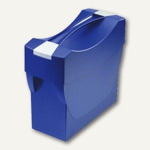 Hängemappenbox Swing-Plus DIN A4, PS, für 20 Mappen/3 Ordner, Deckel, blau