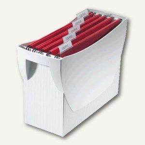 Hängemappenbox Swing DIN A4, PS, für 20 Mappen/3 Ordner, ohne Deckel, lichtgrau,