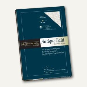Southworth Fein geripptes Papier, DIN A4, 90 g/qm, weiß, 80 Blatt, 90070