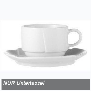 Esmeyer Kaffeeuntertassen Daniela, uni weiß, 6 Stück, 436-002