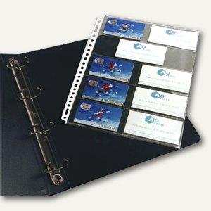 Veloflex Visitenkartenhüllen DIN A4 für 20 Karten, 10 Stück, 5341000
