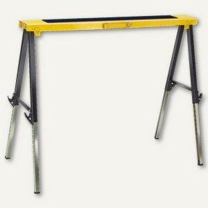 Brennenstuhl Falt-Arbeitsbock MB 120 KH, schwarz/gelb, höhenverstellbar, 1444610
