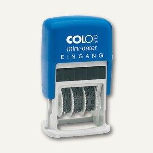 "Colop MiniDater S160/L, Datum- u. Text ""EINGANG"", rot/blau, 1456010223"